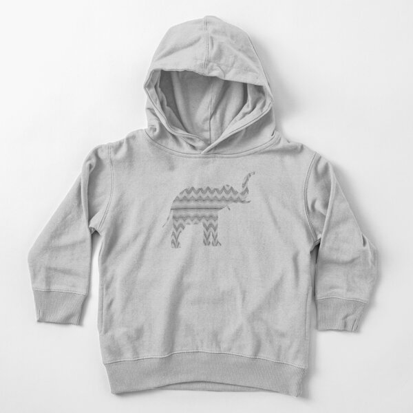 Grey Faux Tulle Design Toddler Pullover Hoodie