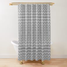 Grey Faux Tulle Design Shower Curtain