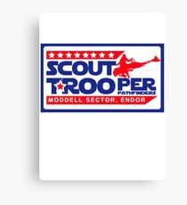 Evel Biker Scout Scout Trooper Canvas Print