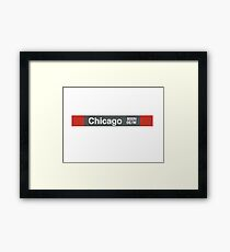 Chicago - Red Line Framed Print