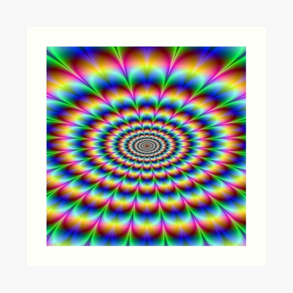 #Op #art - art movement, short for #optical art, is a style of #visual art that uses optical illusions Art Print