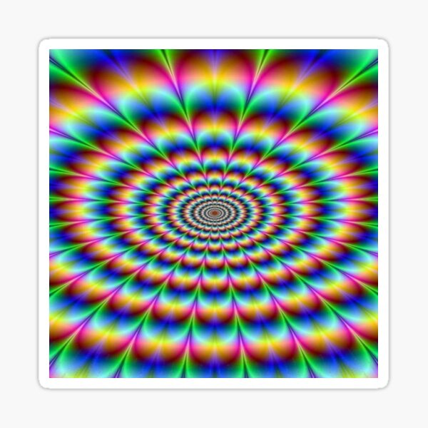 #Op #art - art movement, short for #optical art, is a style of #visual art that uses optical illusions Sticker