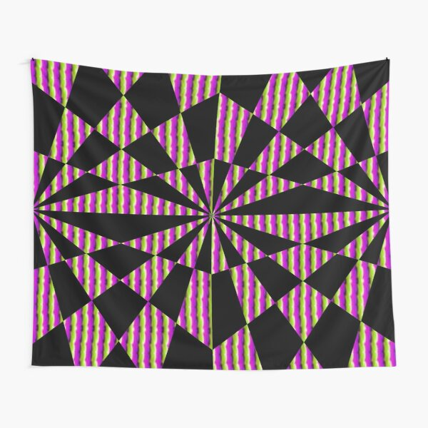 #Op #art - art movement, short for #optical art, is a style of #visual art that uses optical illusions Tapestry