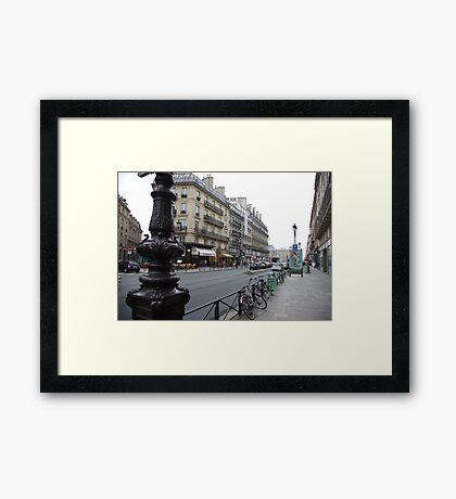 cityscapes #139, grey street Framed Print