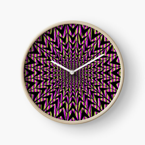 #Op #art - art movement, short for #optical art, is a style of #visual art that uses optical illusions Clock