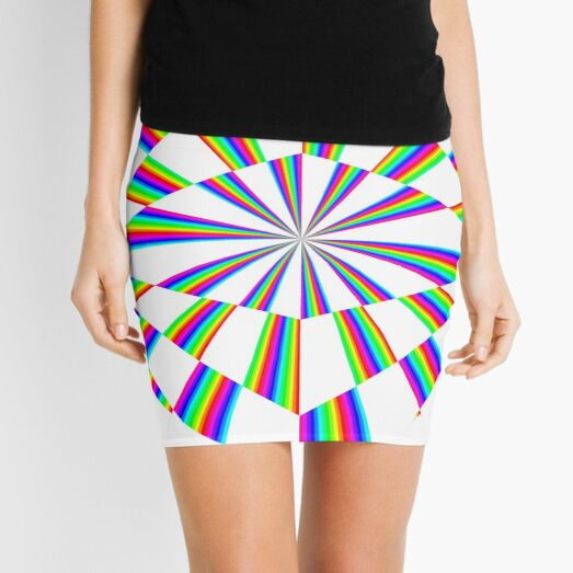 #Op #art - art movement, short for #optical art, is a style of #visual art that uses optical illusions Mini Skirt