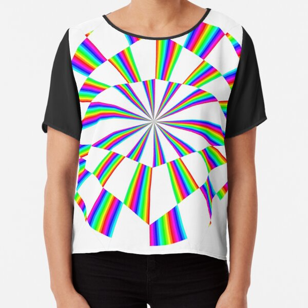 #Op #art - art movement, short for #optical art, is a style of #visual art that uses optical illusions Chiffon Top