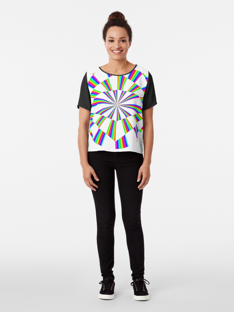 Alternate view of #Op #art - art movement, short for #optical art, is a style of #visual art that uses optical illusions Chiffon Top