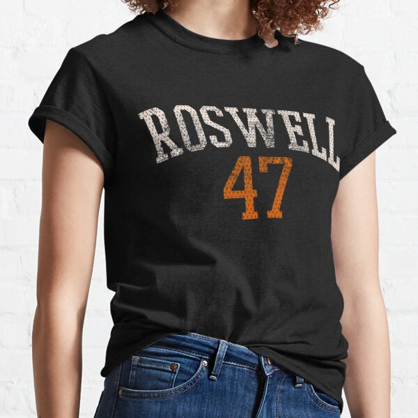 Roswell 47 distressed vintage jersey lettering Classic T-Shirt