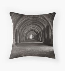 Cellarium Fountains Abbey Throw Pillow