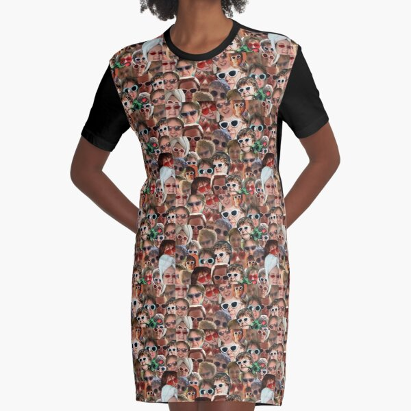 Lewis Capaldi Collage Repeat Print Graphic T-Shirt Dress