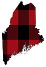 Maine in Red Plaid by Sun Dog Montana