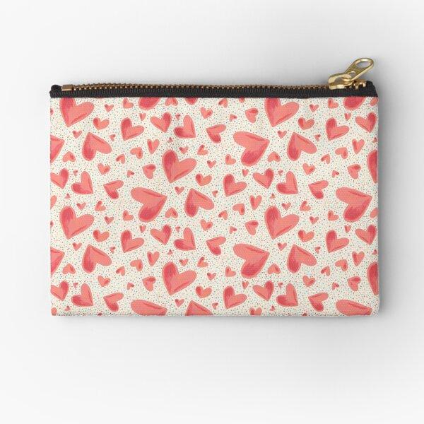 Heart and dots Zipper Pouch