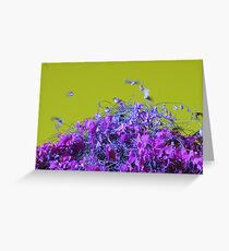 """""""Top of the Heap"""" - Olive & Purple Greeting Card"""