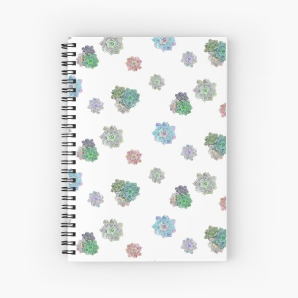 Watercolor Succulents Spiral Notebook