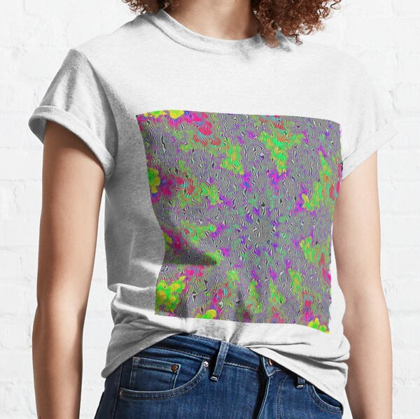 Op art - art movement, short for optical art, is a style of visual art that uses optical illusions Classic T-Shirt