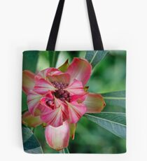 Waratah unfolds Tote Bag