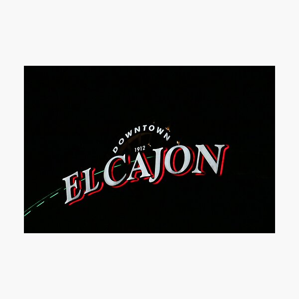 El Cajon Sign at Night Photographic Print