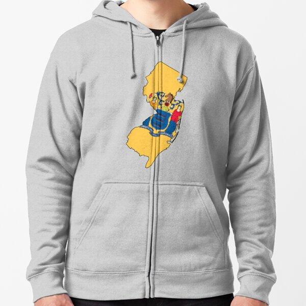 New Jersey Love Zipped Hoodie