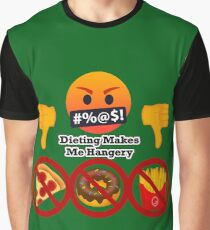 Dieting Makes me Hangery Joypixels Angry and Hungry Emoji Graphic T-Shirt