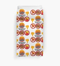 Dieting Makes me Hangery Joypixels Angry and Hungry Emoji Duvet Cover