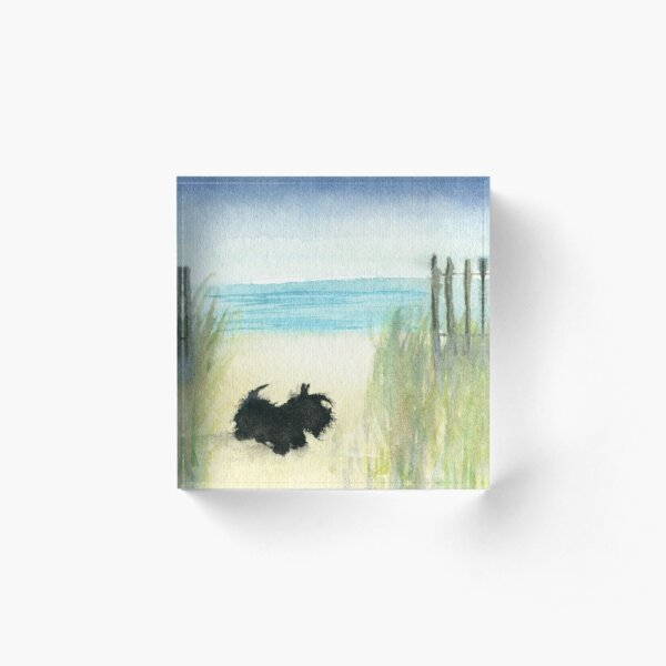 Scottie Dog 'Beach' Acrylic Block