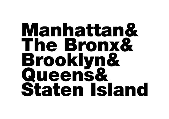Five Boroughs ~ New York City by forgottentongue