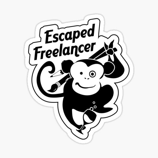 Escaped Freelancer [rev] Sticker
