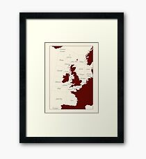 Shipping Forecast - red and cream Framed Print
