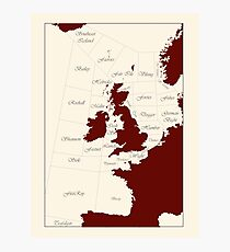 Shipping Forecast - red and cream Photographic Print