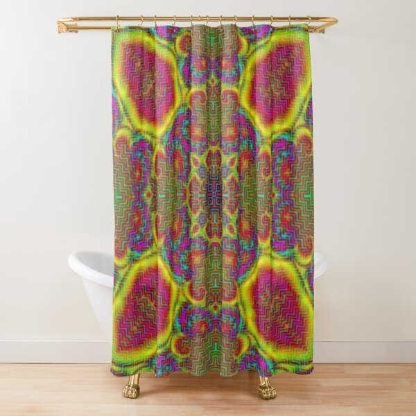 Op art - art movement, short for optical art, is a style of visual art that uses optical illusions Shower Curtain