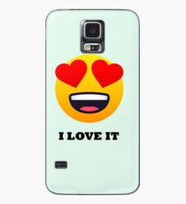 I Love It Smiley Face with Heart Eyes Joypixels Emoji Case/Skin for Samsung Galaxy