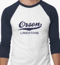 Orson Limestone (Solid Colour) Men's Baseball ¾ T-Shirt