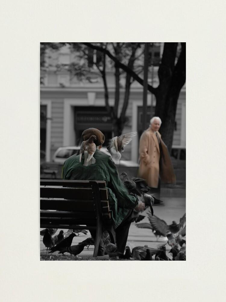 Alternate view of 2010 09 04 Vilnius 3, Pigeon man Photographic Print