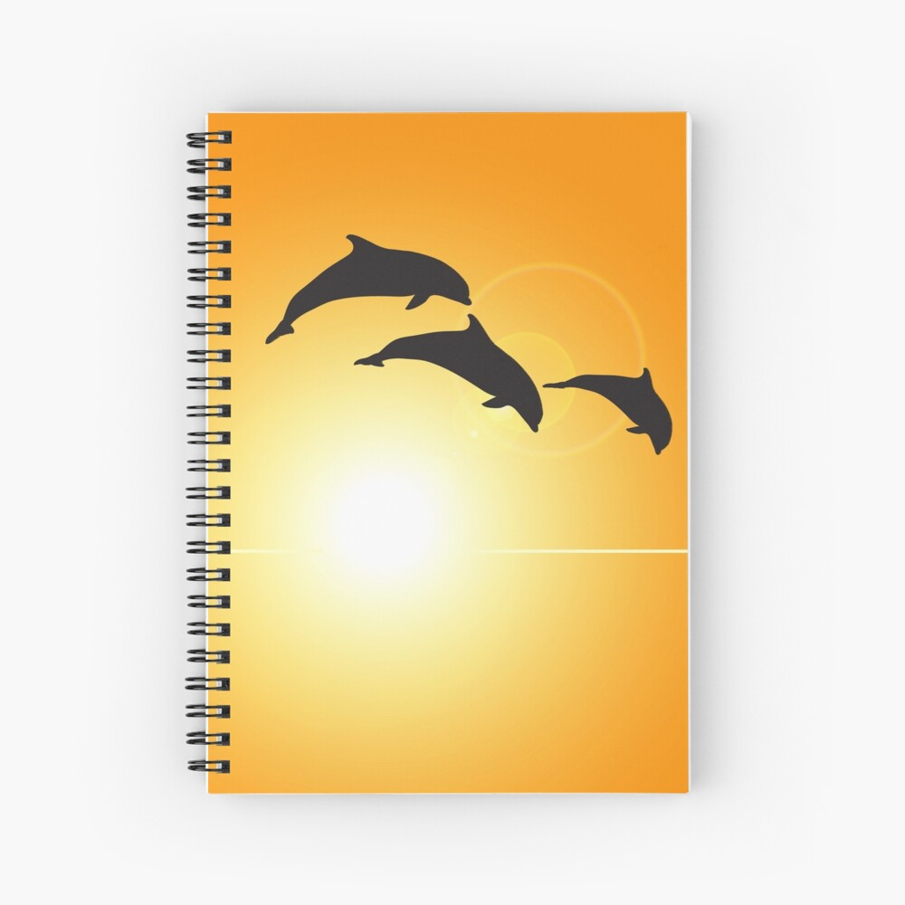 Dolphin Silhouette Spiral Notebook