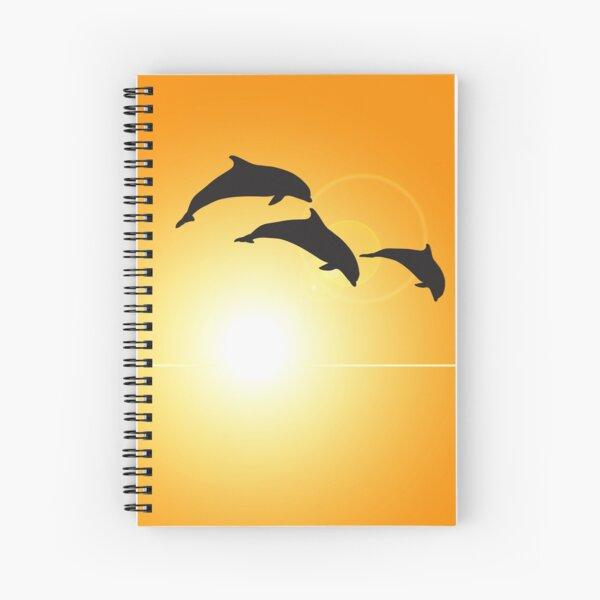 Dolphin Sunset Spiral Notebook