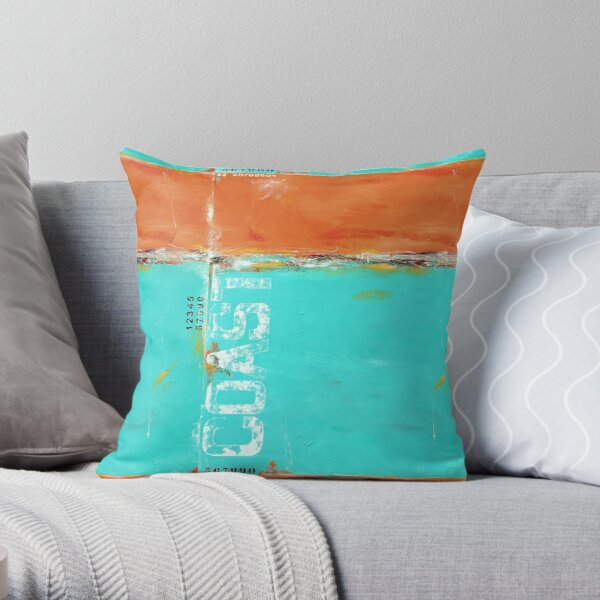 Fragile Coast Throw Pillow