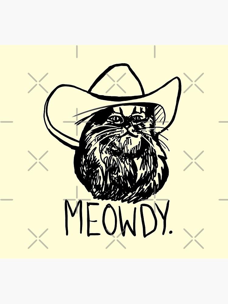 Meowdy Texas Cat Meme by sketchNkustom