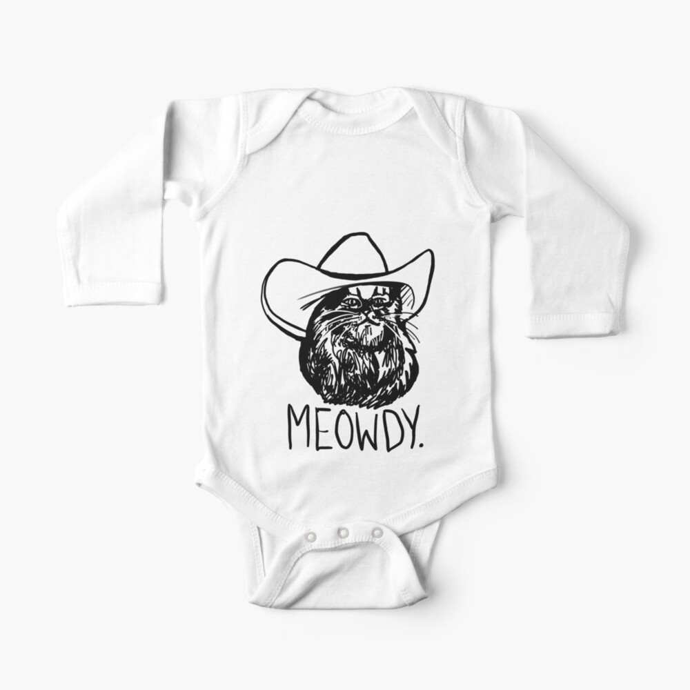 Meowdy Texas Cat Meme Baby One-Piece