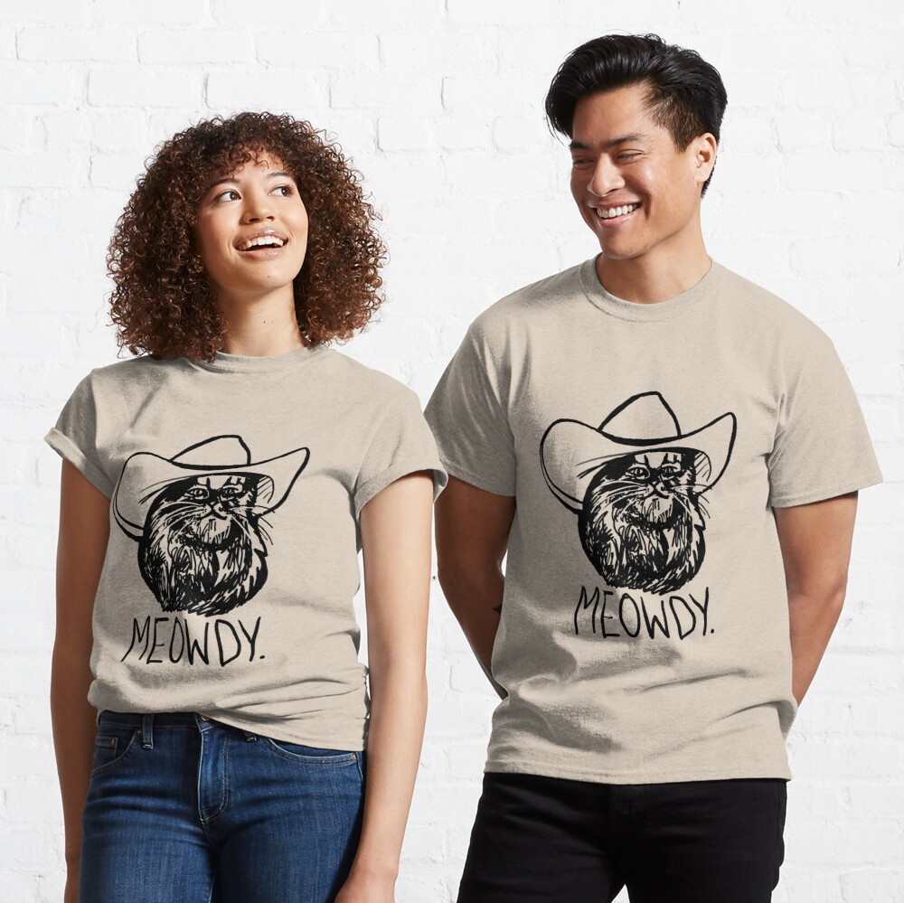 Meowdy Texas Cat Meme Classic T-Shirt