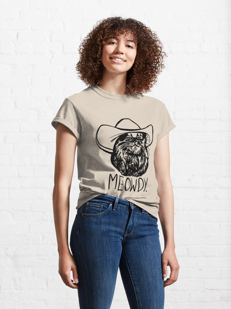 Alternate view of Meowdy Texas Cat Meme Classic T-Shirt
