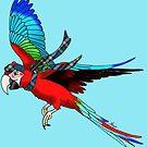 Scottish Green-Wing Macaw by Skye Elizabeth  Tranter