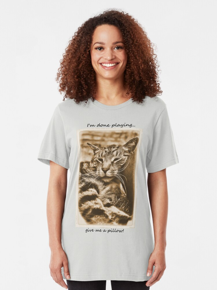 Alternate view of I Kneed a Pillow Slim Fit T-Shirt