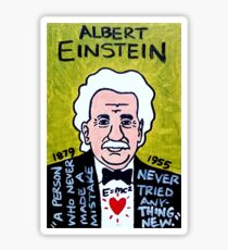 Albert Einstein Pop Folk Art Sticker