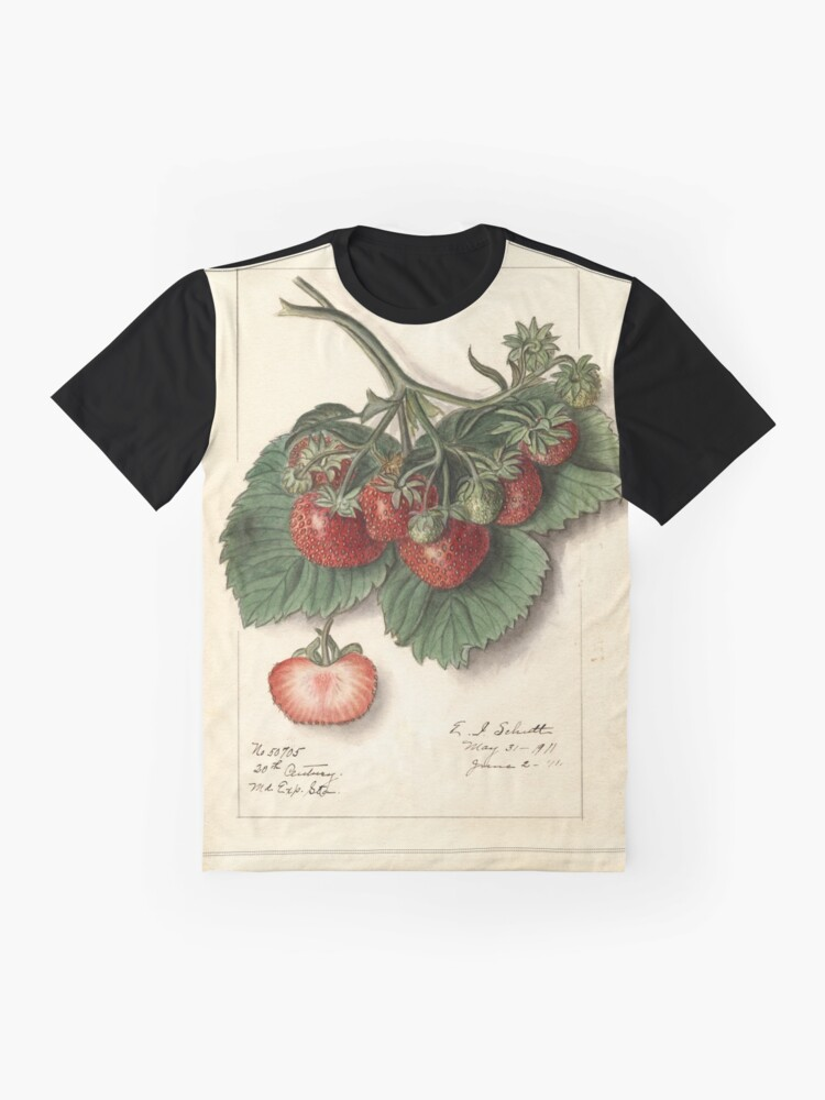 Alternate view of Vintage Strawberries Graphic T-Shirt