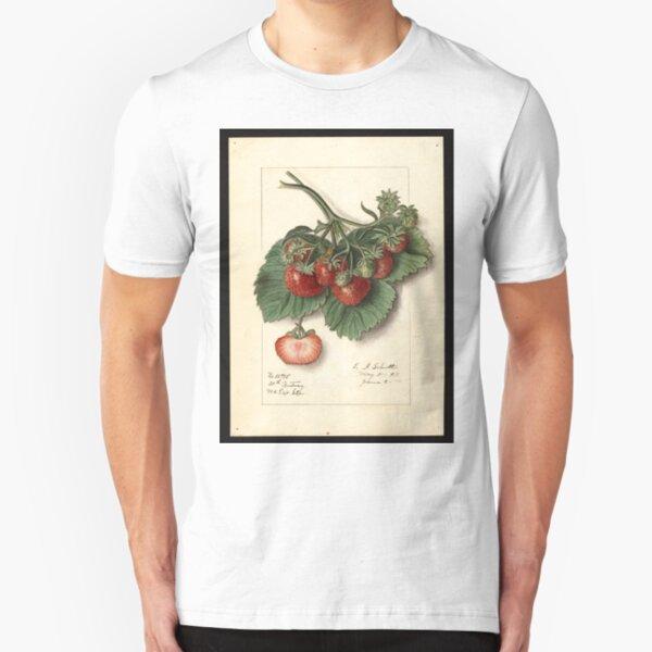 Vintage Strawberries Slim Fit T-Shirt