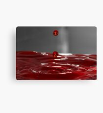 Red Droplet  Canvas Print