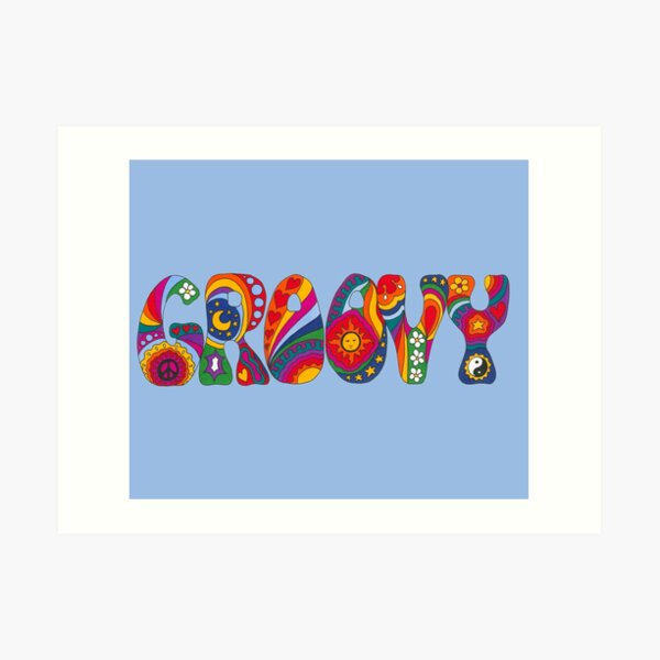 Psychedelic Groovy Art Print