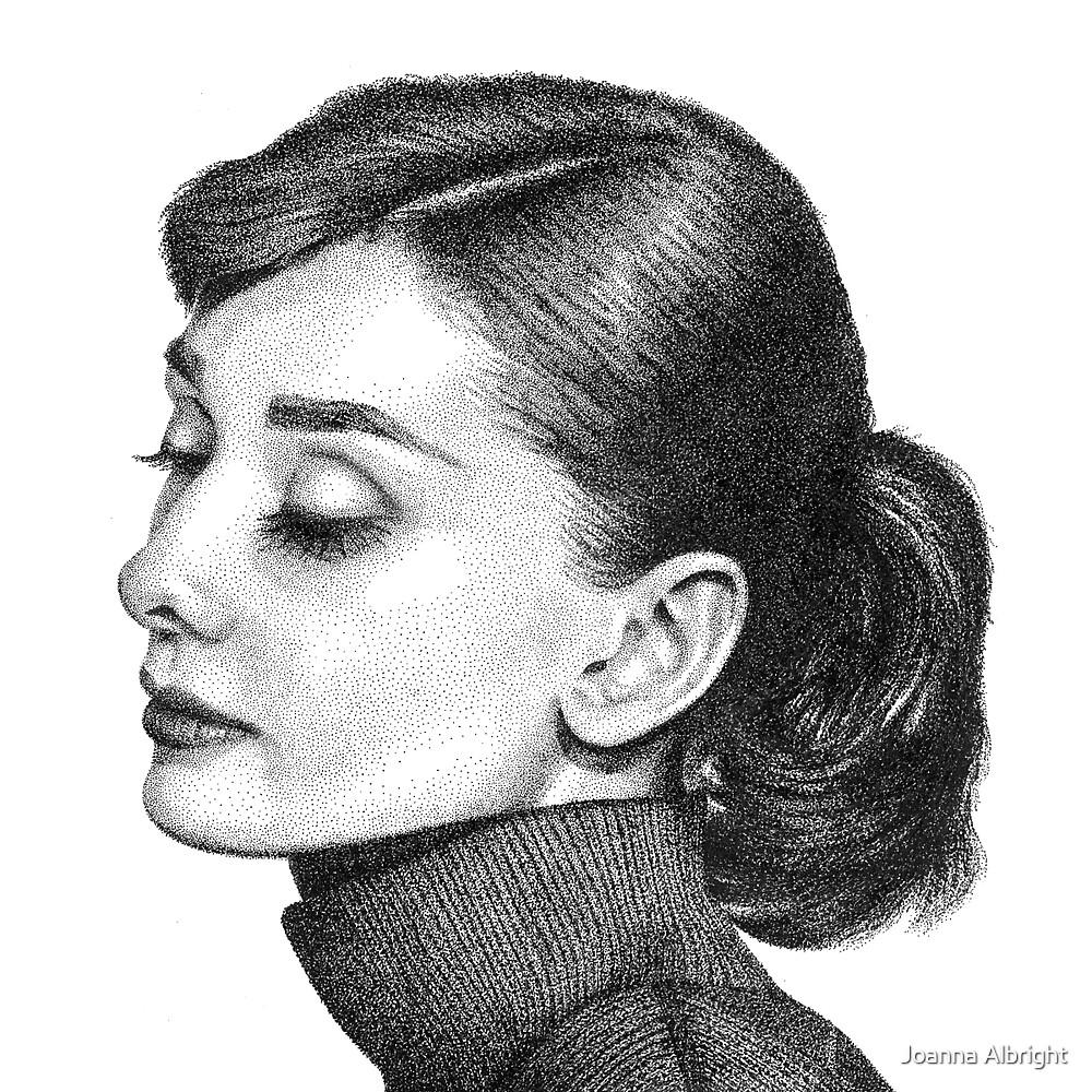 Quot Audrey Hepburn Stippling Portrait Quot By Joanna Albright