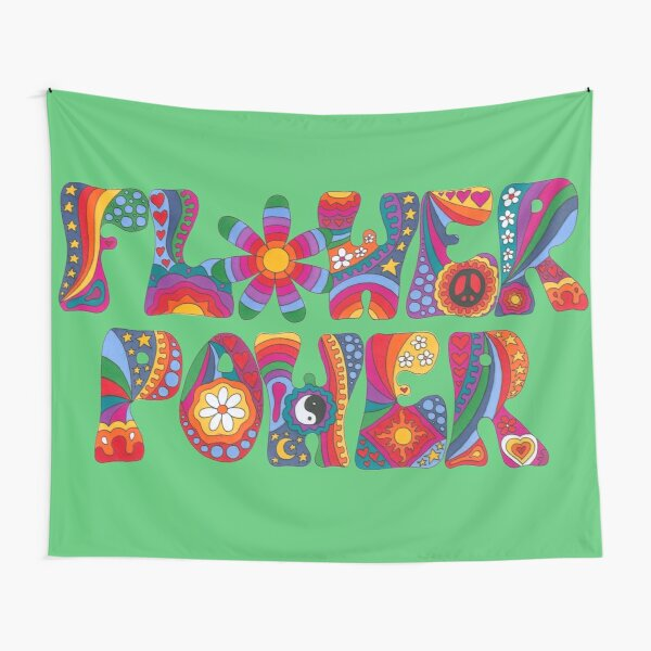 Psychedelic Flower Power Tapestry